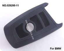 hot sale high quality lockpick locksmith key cover 3-button smart remote control Silicon Rubber bag(black) 29298-11