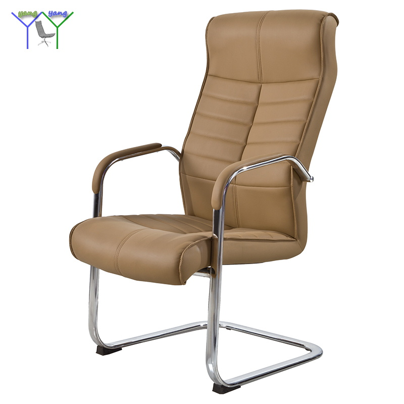 Hot sell 2017 new design high end back brown leather office visitor chair