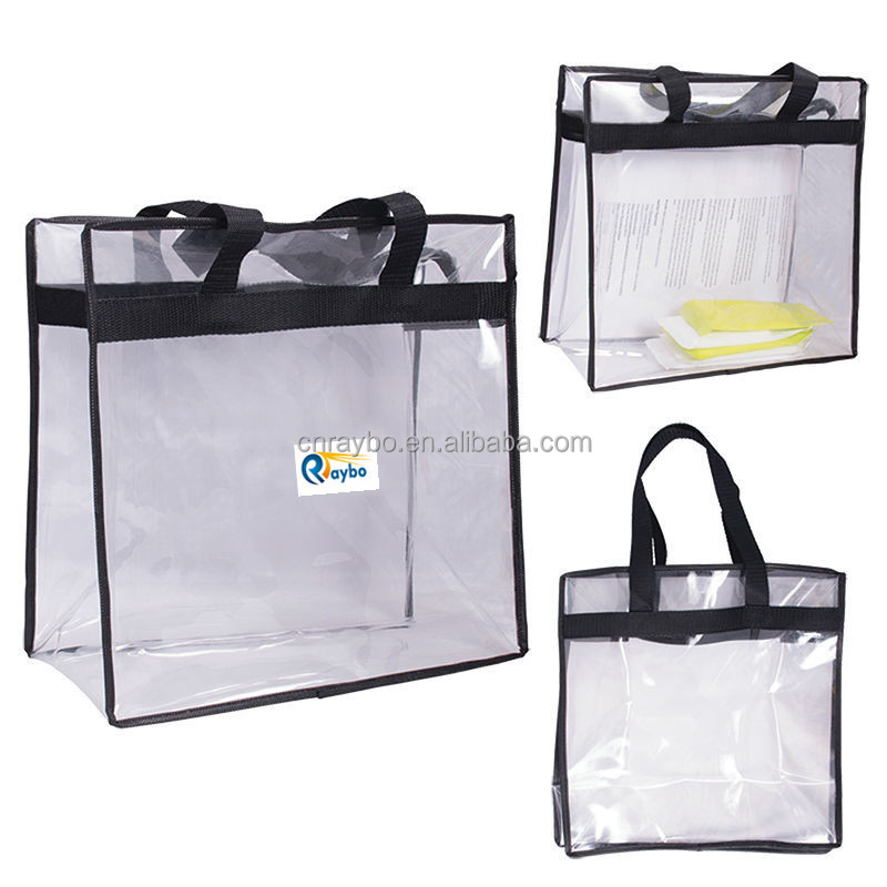 High quality stadium clear PVC tote bag