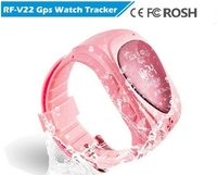 Smallest waterproof gps wrist watch V22, RF-V22 kids gps bracelet with 2 way voice phone call, app web tracking