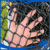 hot dipped galvanized pvc coated 50x50mm chain link fence