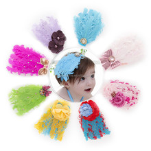 Lovely Feather Christmas Headband,Kids Head Flower 7 Colors Available