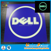 New technology engraving advertising glow in dark plastic sign board