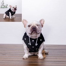 Hot sale simple cotton stars custom hoodie online shopping spring dog clothes wholesale