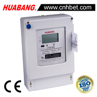 CT connection Three phase RS485 prepayment energy meter