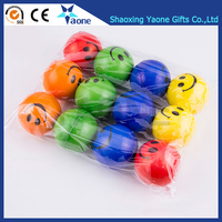 Factory Cheap Price Custom Logo Print PU Soft Foam Squeeze Colorful Smiley Stress Ball In Stock