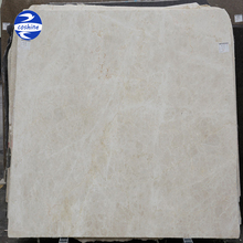 Polished ivory cream marble for floor slabs