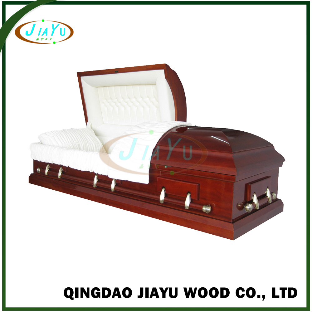 First-rank handcraft locking mechanism gloss mahogany veneer casket