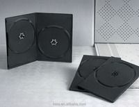 Thickness 7mm Cheap Discs Black Cover Slim Double DVD Case