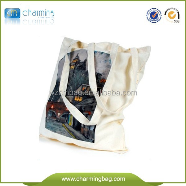 4 Colors Printing Organic Cotton Tote Bags Wholesale