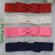 Grosgrain Ribbon Packing Bow With Stretch Loop