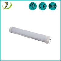 UL listed high quality fluorescent lamps led 2g11 tube AC85-305V 180 degree led 2g11 light clear cover/frost cover 2g11 tube