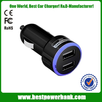 HC-C11 New Dual USB car charger car-styling LED indicator Universal mobile phone charger