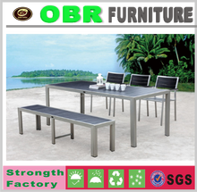 New design cast aluminum white table wood furniture for dining set