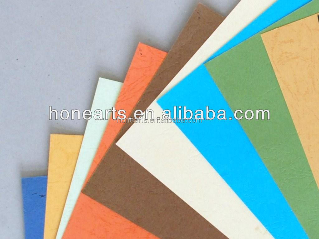 wholesale high quality FSC leather grain paper
