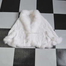 SJ468 Luxury Hot Sale Thick Mink Knit Fur Poncho