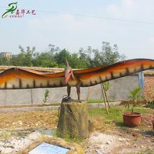 2018 hot sale real fiberglass dinosaur statue for amusement park