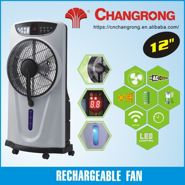 Water air cooling fan stand fan with mist remot control stand fan