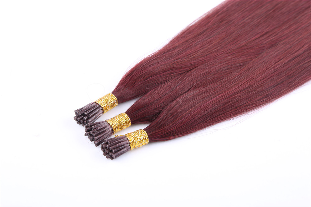 cheap High Quality Peruvian Virgin Remy Hair Wholesale Human Hair Weave Brands Best Selling Bright Color I-Tip Hair Extension