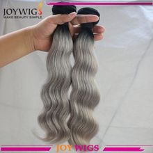 All types dyeable natural human hair extensions gray human hair