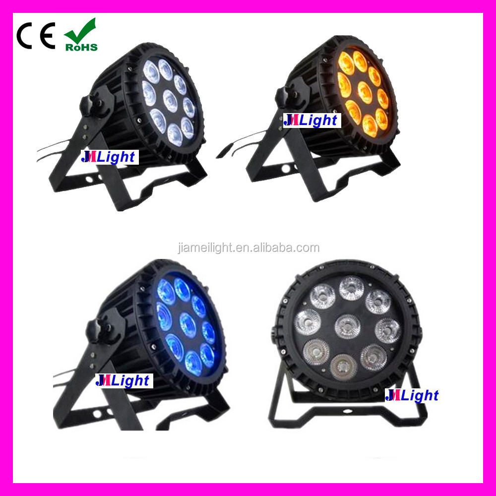 2016 event show light LED Waterproof Slim Pro Par 9*15W RGBWA 5in1 wireless dmx battery powered LED Light