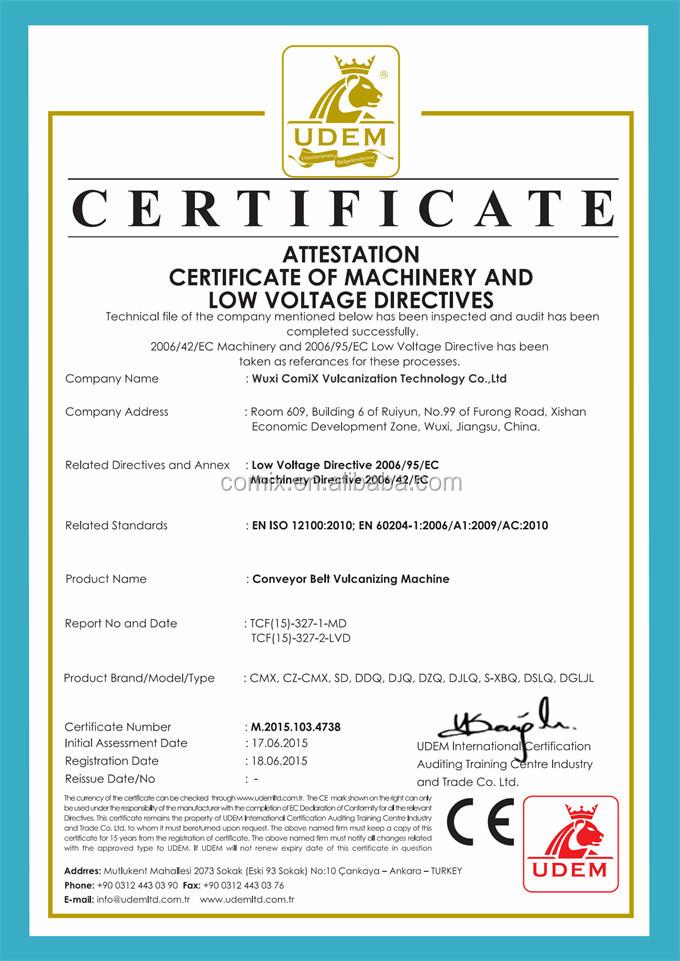SD Conveyor belt vulcanizing tools/hot splicing vulcanizing machine