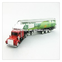 YL8724 OEM promotion oil tanker metal toy truck and trailer,1:87 die cast toy truck,model truck toy