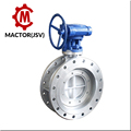 Fange connection triple eccentric butterfly valve for cement