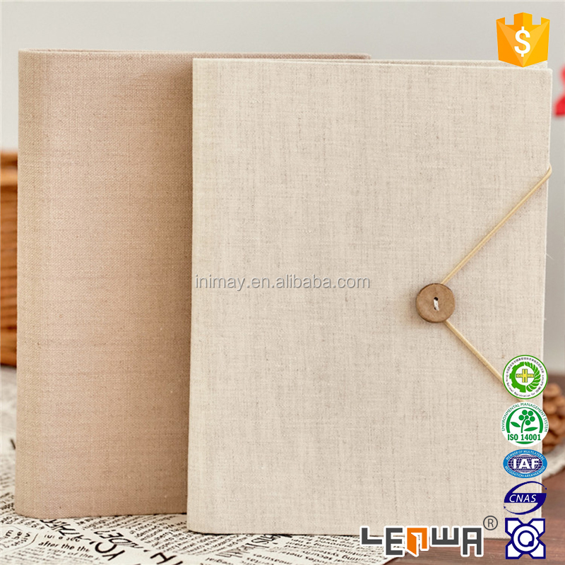 Eco-friendly Linen Cover 6 Holes Ring Binder Notebook