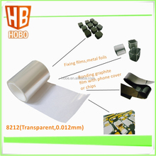 Transparent pet double sided adhesive film , 12 micron pet film