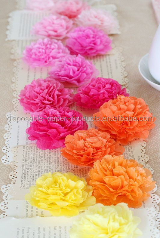 Yiwu factory wholesale tissue paper flowers balls pack of 8 party yiwu factory wholesale tissue paper flowers balls pack of 8 party kit birthday party wedding deco buy tissue paper flowersorange mini tissue paper pom mightylinksfo