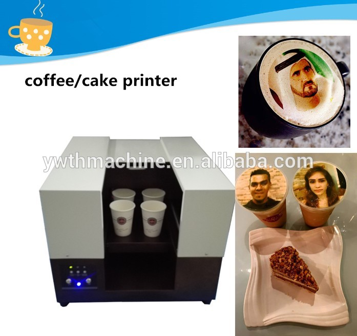 Automatic Edible Latte Coffee Cafe Art Printing Machine