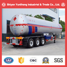 50000 Liters LNG Tank Semi Trailer Price/50M3 25 Ton LNG Transport Tanker Trailer Truck For Sale