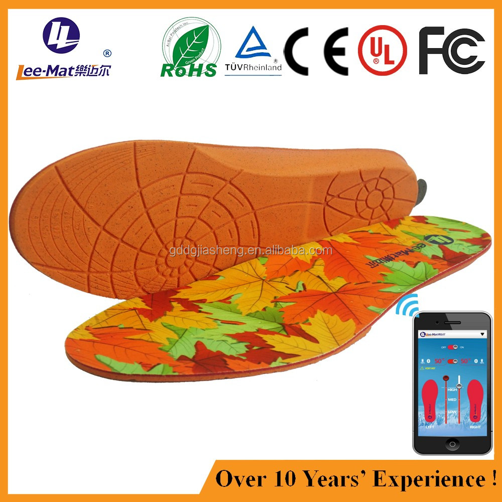 High efficient heated wam shoe insoles battery powered foot warmer