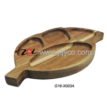 factory price acacia wood plate, antique wood heart shape plates with LFGB/FDA certificate