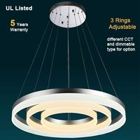 LED Pendant Lamp Dimmable for option dimming Circle pendant lamp by Remote control