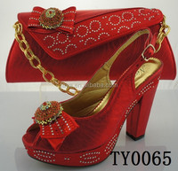red plaid high heels shoes matching butterfly tie design purse
