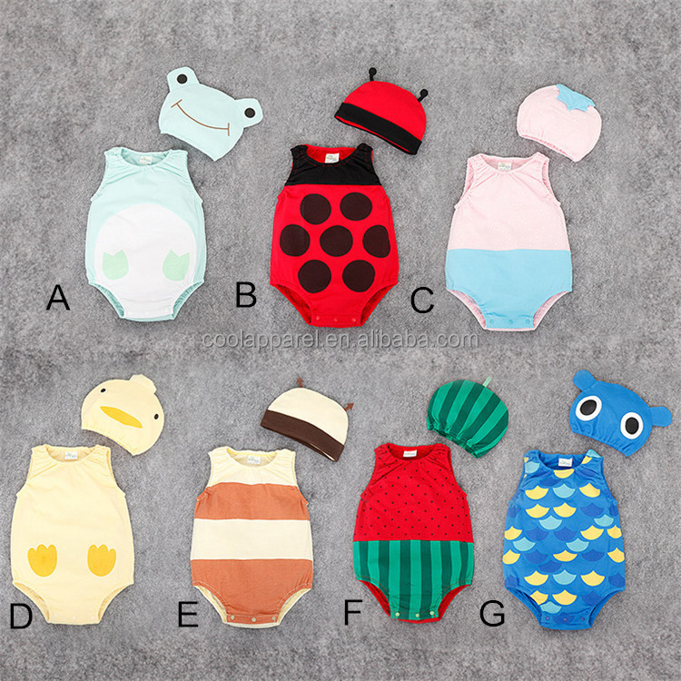 baby products baby clothes sets cute fruit animal baby romper costume