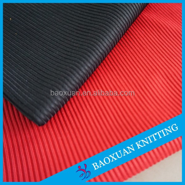 95% poly 5% spandex 2x2 rib knit fabric