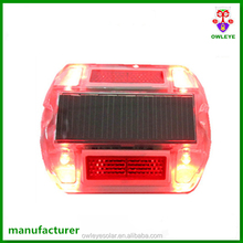 Driveway solar LED road marker/ABS raised pavement solar road stud