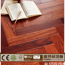 Bright color and high quality 12mm art parquet floor