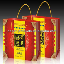Beautiful High-grade Paper Alcohol,Tobacco Packing Box With Habdle
