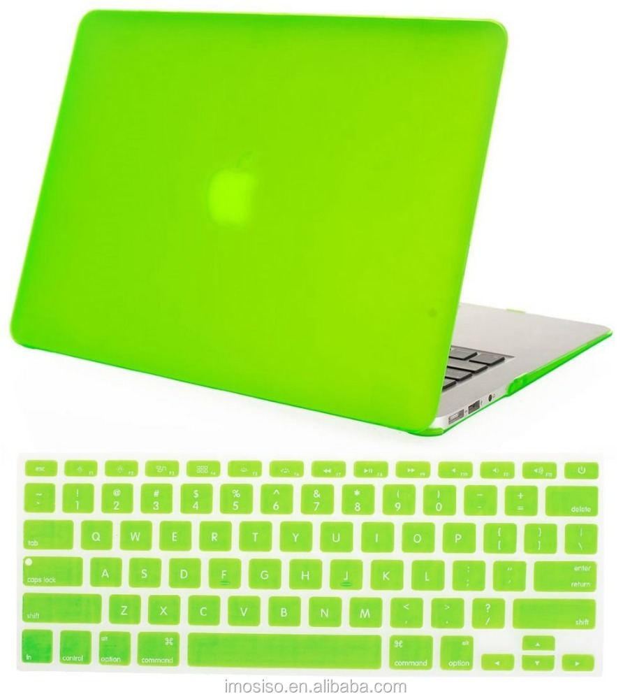 Spring Green Color PC Case Cover for Macbook Air Matte Soft Touch Skin Hard Shell Cover Case