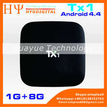 [Genuine] Full 1080P hd video download TX1 s805 1G/8G Android 4.4 android quad core tv box 4k HOT SELL