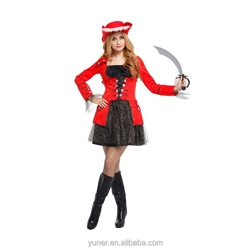 Adult girls Dreass masquerade Duchess pirate Halloween Costumes for Cosplay show
