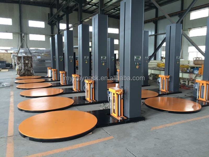 Pallet stretch fillm wrapping machine