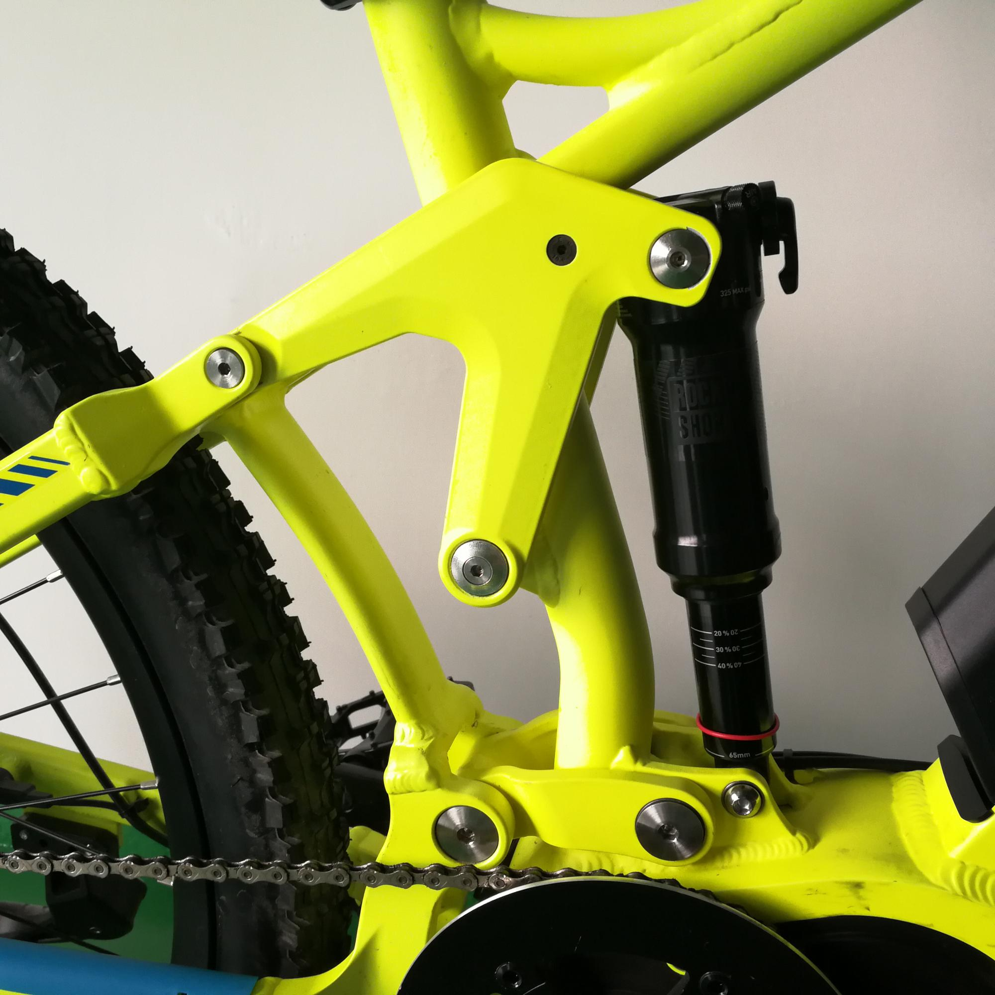 2018 High end full suspension e bike 1000W mid motor developed by FREY.