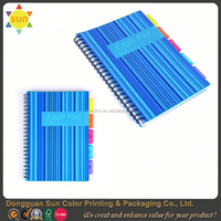 pp cover spiral notebooks/promotional notebook with pen/hardcover blank notebook