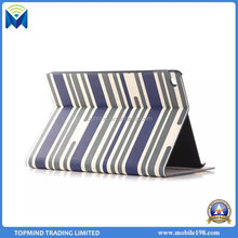 Stripe Pattern Leather Flip Case Cover with Back Cover for iPad Pro