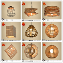 wood nordic style home decorative pendant lighting fixture